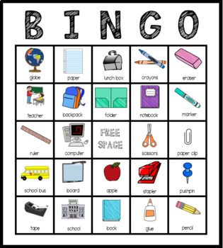 School-Themed Bingo Game with Riddles - A Vocabulary Building Activity