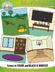 School Themed Background Scenes Clip Art Set — Includes 30