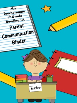 School Themed Binder Cover Sheets--Edit as Needed!