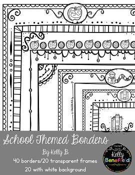 School Themed Borders - Portraits