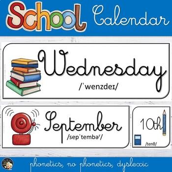 School-Themed Calendar