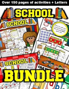 School  Themed Classroom Center Bundle