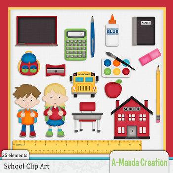 School Themed Clip Art