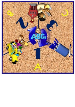School Themed Cooperative Learning Mat Set