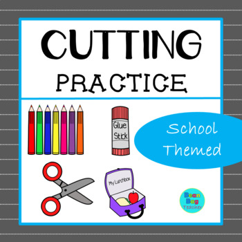 School Themed Cutting Practice | Great for Back to School