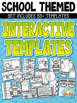 School Flippable Interactive Templates {Zip-A-Dee-Doo-Dah Designs}