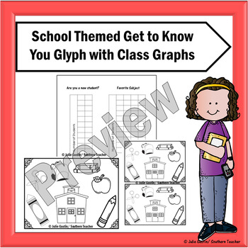 School Themed Get to Know You Glyph with Graphs
