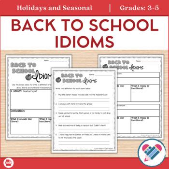 Idioms School Themed