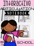 School Themed Interactive Articulation Notebook