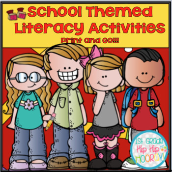 School Themed Literacy Activities and Games!