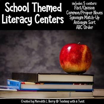 School Themed Literacy Center Bundle