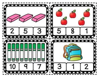 School Themed Math Centers for Preschool and Kindergarten