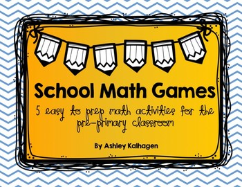 School Themed Math Games