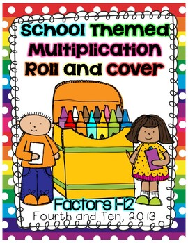 School Themed Multiplication Roll and Cover