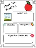 School Themed Newsletter Template FREEBIE