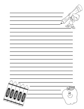 School Themed Note Paper
