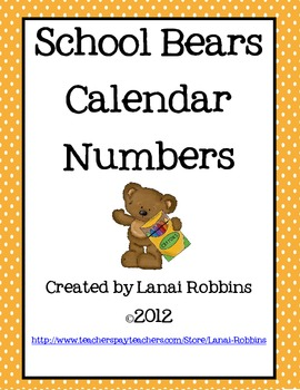School Themed Number Cards