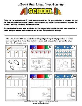 School Themed Number / Counting Activities