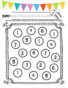 School Themed Number Sense Activities