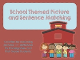 School Themed Picture and Sentence Matching Cards