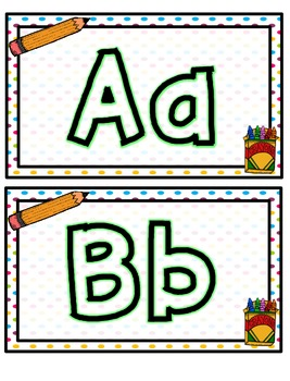 School Themed Play Doh Mats- Letters