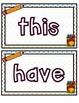 School Themed Play Doh Mats- Sight Words