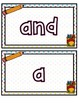 School Themed Play Doh Mats- Sight Words