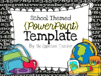 Back to school powerpoint template by the applicious teacher tpt back to school powerpoint template toneelgroepblik Choice Image