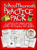School Themed Practice Pack for Fourth and Fifth Grade