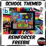 School Themed Reinforcer Boom Cards FREEBIE