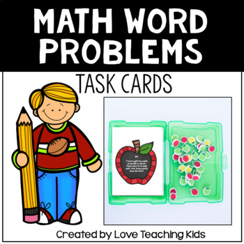Math Word Problems- School Themed Task cards