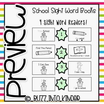 School Themed Sight Word Readers