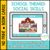 School Themed Social Skills BOOM Cards™️ Speech Therapy Di
