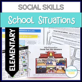School Themed Social Skills Activities Speech Therapy