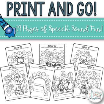School Themed Speech Sound Worksheets- Blends