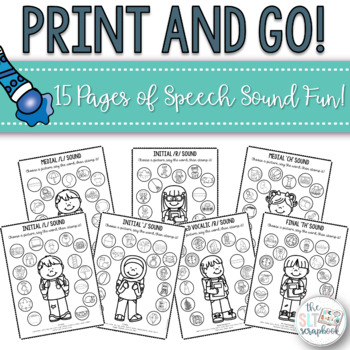 School Themed Speech Sound Worksheets- Later Sounds