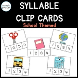 School Themed Syllable Clip Cards