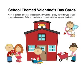 School Themed Valentine's Day Cards