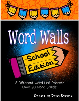 School Themed Word Walls (Back to School and Subject Areas)