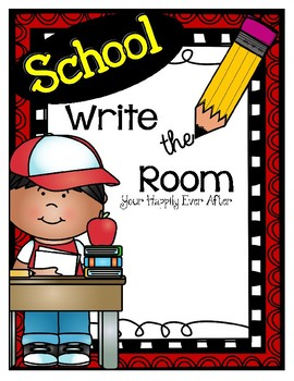 School Themed Write the Room Free Sample