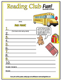 School Then and now Reading Log and Certificate Set