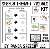 Speech Therapy Visuals Kit (Digital Option Included). Symbols for OT/PT too!