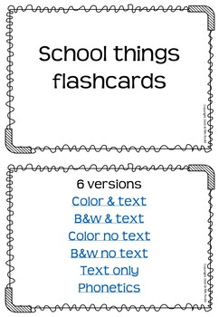 School Things Flashcards