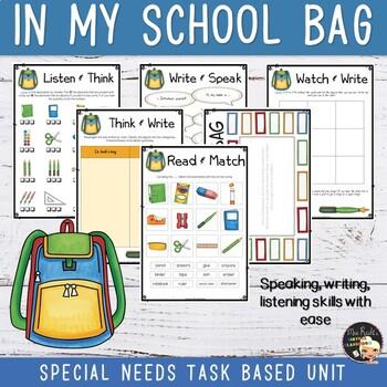 School Things Unit - In my school bag