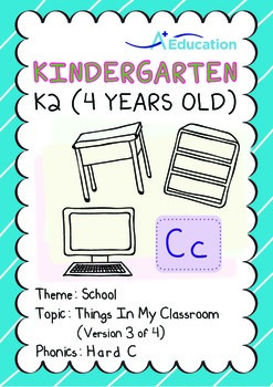 School - Things in My Classroom (III): Hard C - Kindergarten, K2 (4 years old)
