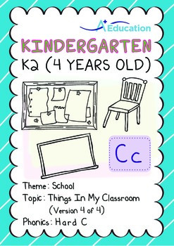 School - Things in My Classroom (IV): Hard C - Kindergarten, K2 (4 years old)