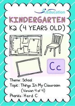 School - Things in My Classroom (IV): Hard C - Kindergarte