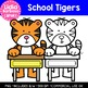School Tigers: Digital Clipart