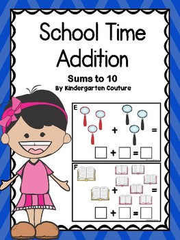 School Time Addition With Bonus I See Tiny Sight Words