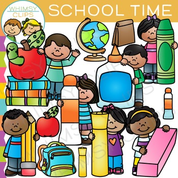 Time for Back To School Clip Art